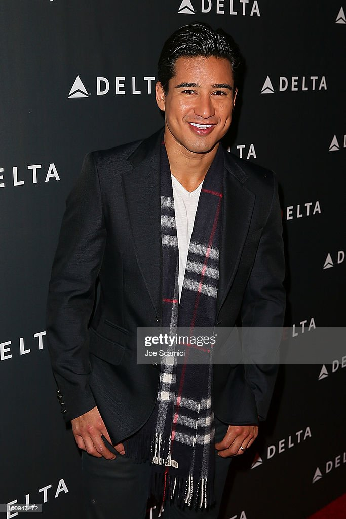 Mario Lopez arrives at Delta Air Lines' GRAMMY Celebration At Getty House on February 7, 2013 in Los Angeles, California.