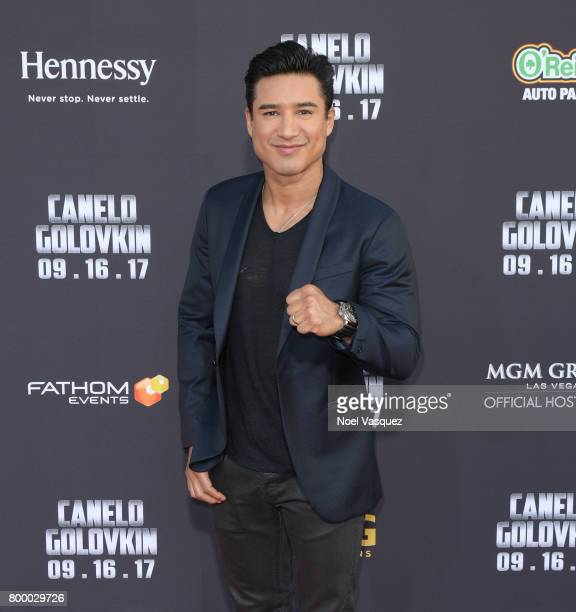 "Mario Lopez attends the Canelo Alvarez and Gennady ""GGG"" Golovkin press tour presented by Hennessy at AVALON Hollywood on June 22 2017 in Los Angeles..."