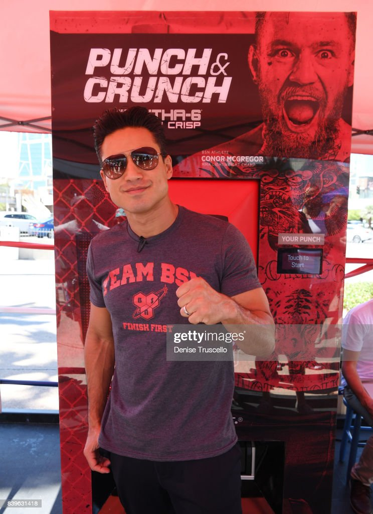 Mario Lopez attends the 'Conor McGregor Punch & Crunch Experience' at the Tropicana Hotela nd Casino on August 26, 2017 in Las Vegas, Nevada.