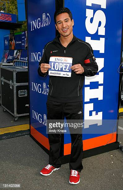 Mario Lopez attends the ING New York City Marathon Celebrity Runners Bib Presentation at Marathon Pavilion in Central Park on November 4 2011 in New...