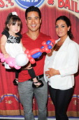 Mario Lopez Courtney Mazza and daughter Gia Lopez attend the celebrity premiere of Ringling Bros and Barnum Bailey's 'Built To Amaze' tour at Staples...