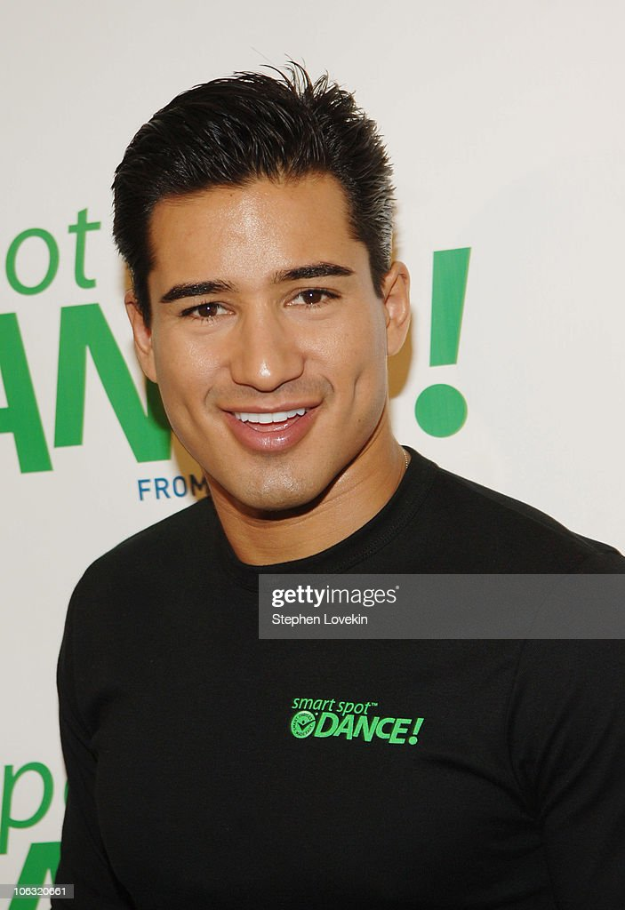 Mario Lopez during Mario Lopez and LaChanze Demonstrate the Smart Spot Dance at McBurney YMCA in New York City New York United States