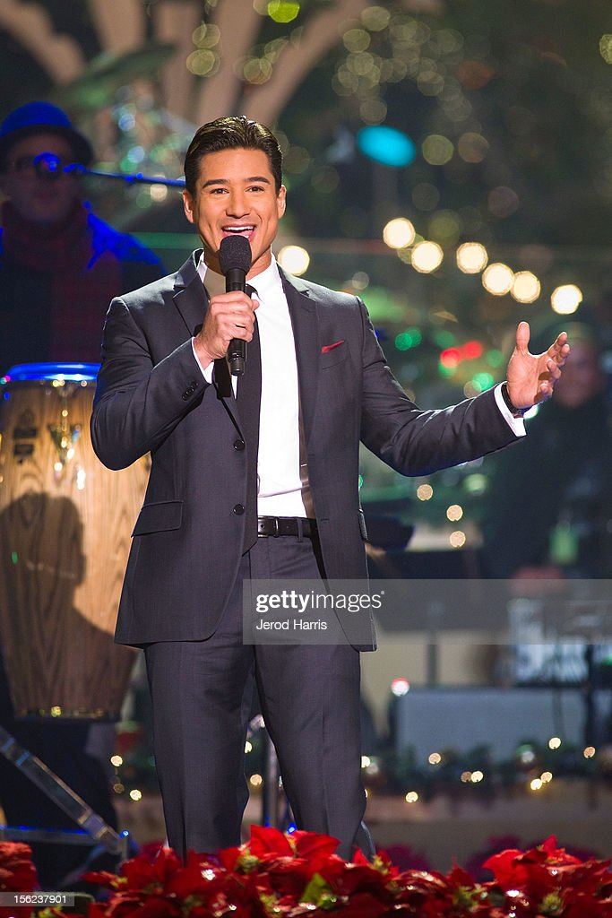 Mario Lopez hosts A Hollywood Christmas Celebration at The Grove on November 11, 2012 in Los Angeles, California.