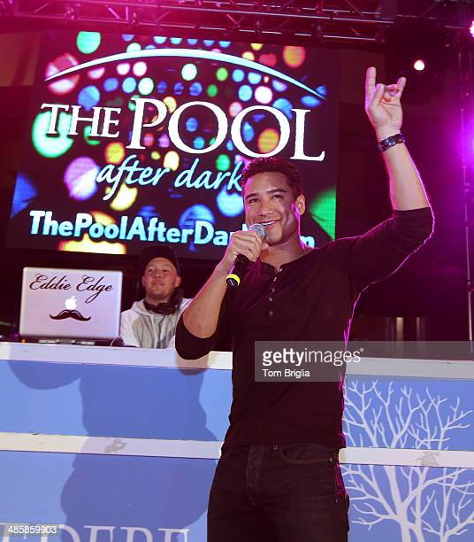 Mario Lopez hosts at The Pool After Dark at Harrah's Resort on Saturday April 19 2014 in Atlantic City New Jersey