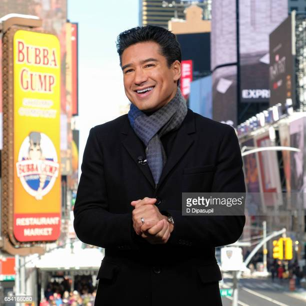 Mario Lopez hosts 'Extra' at their New York studios at the Hard Rock Cafe in Times Square on March 16 2017 in New York City