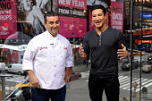 Mario Lopez interviews Buddy Valastro during his visit to 'Extra' at their New York studios at HM in Times Square on January 19 2015 in New York City