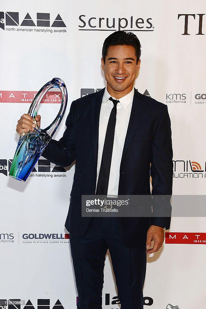 Mario Lopez receives 'The Beautiful Humanitarian' award at the 2013 North American Hairstyling Awards at Mandalay Bay on July 14, 2013 in Las Vegas, Nevada.