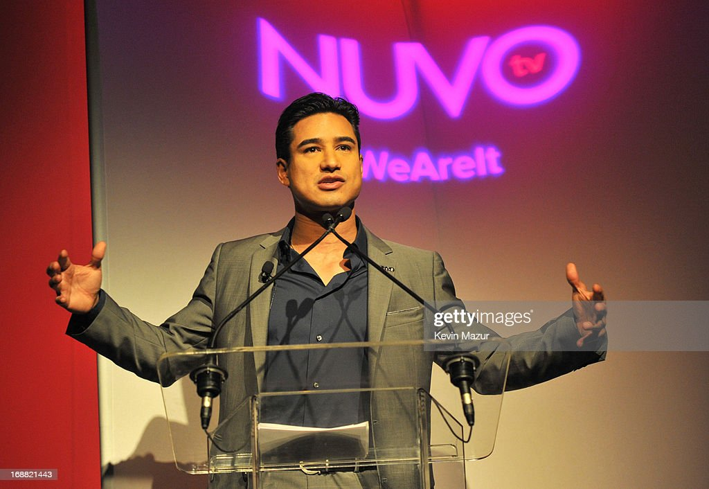 Mario Lopez speaks on stage during the NUVOtv Upfront presentation at The Edison Ballroom on May 15, 2013 in New York City.