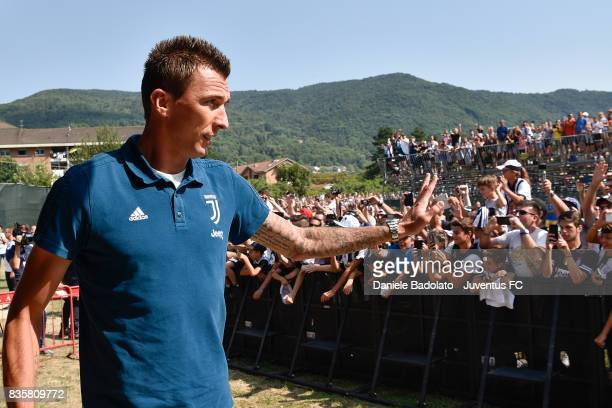Mario Mandzukic during the preseason friendly match between Juventus A and Juventus B on August 17 2017 in Villar Perosa Italy