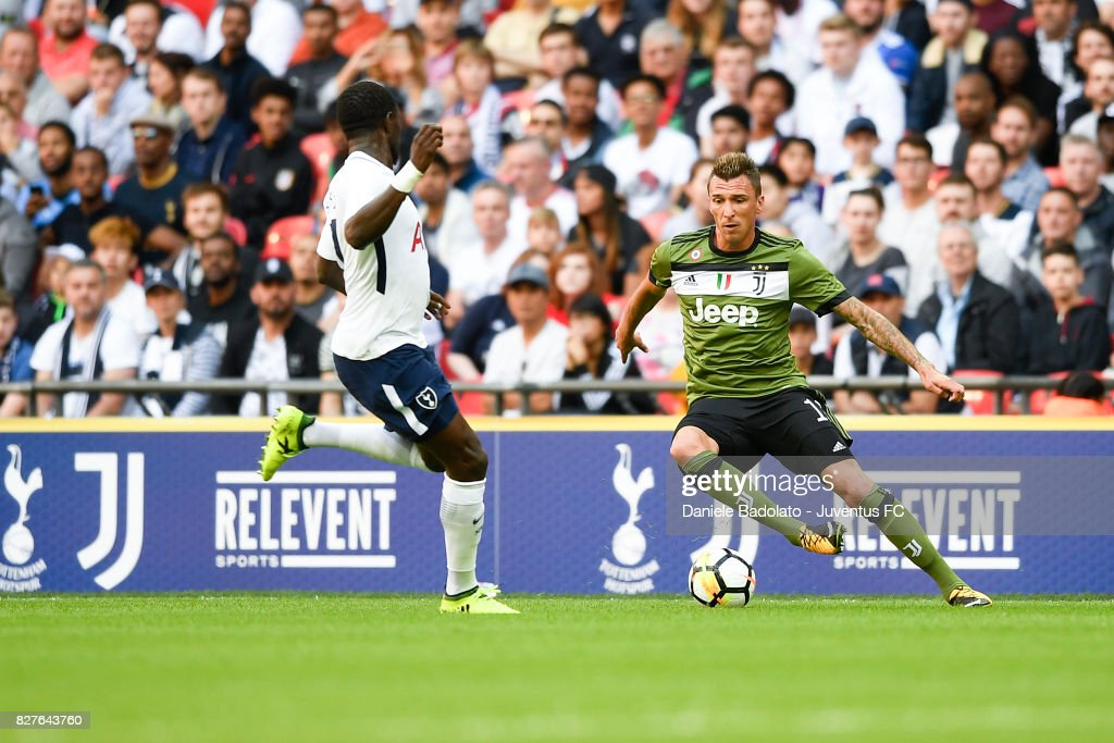 Mario Mandzukic during the Tottenham Hotspur v Juventus Pre-Season Friendly match at Wembley Stadium on August 5, 2017 in London, England.