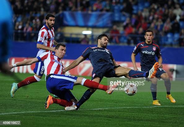 Mario Mandzukic Atletico Madrid Olympiakos Uefa Champions ...