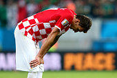 Mario Mandzukic of Croatia reacts after the 13 defeat in the 2014 FIFA World Cup Brazil Group A match between Croatia and Mexico at Arena Pernambuco...