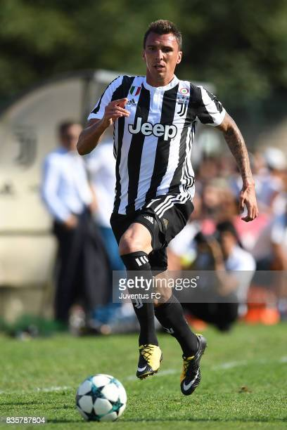 Mario Mandzukic of Juventus A in action during the preseason friendly match between Juventus A and Juventus B on August 17 2017 in Villar Perosa Italy