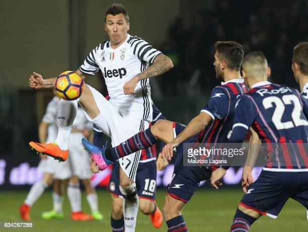 Mario Mandzukic of Juventus during the Serie A match between FC Crotone and Juventus FC at Stadio Comunale Ezio Scida on February 8 2017 in Crotone...