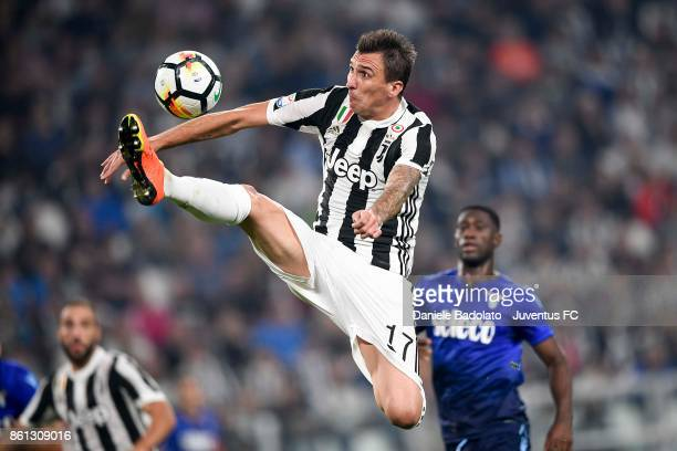 Mario Mandzukic of Juventus in action during the Serie A match between Juventus and SS Lazio on October 14 2017 in Turin Italy