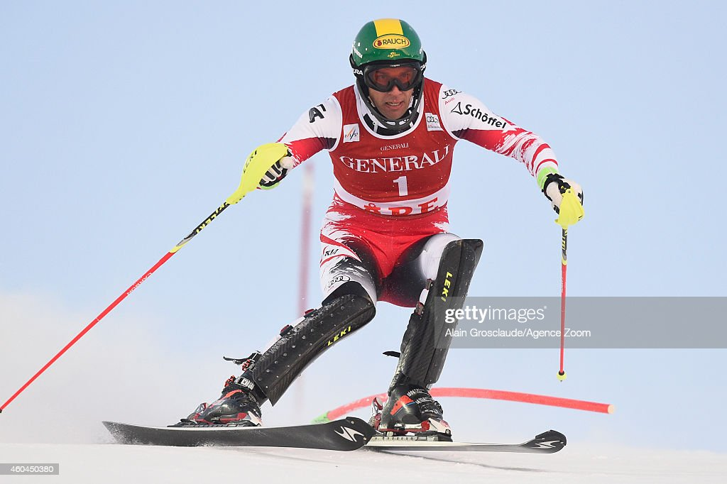 <a gi-track='captionPersonalityLinkClicked' href=/galleries/search?phrase=Mario+Matt&family=editorial&specificpeople=816226 ng-click='$event.stopPropagation()'>Mario Matt</a> of Austria competes during the Audi FIS Alpine Ski World Cup Men's Slalom on December 14, 2014 in Are, Sweden.