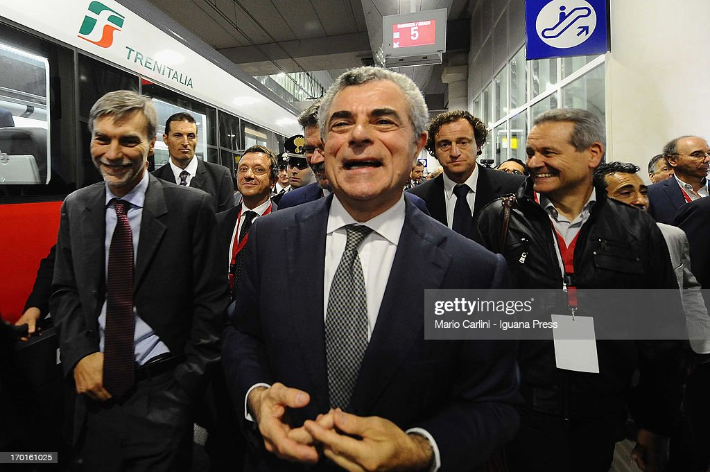 Mario Moretti Managing Director of FS attends the unveil of the new High Speed Trains Station of Bologna Centrale on June 8, 2013 in Bologna, Italy. A new underground high speed train station has been unveiled at Bologna Centrale, Italy's fifth-largest station.