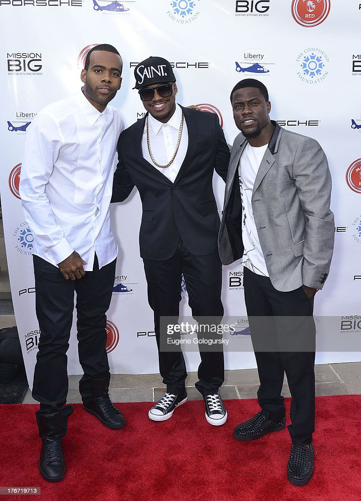 Mario, Ne Yo and Kevin Hart attend the The Compound Foundation 2nd Annual 'Fostering A Legacy' Benefit Hosted By Ne-YO & Mission BIG on August 17, 2013 in East Hampton, New York.