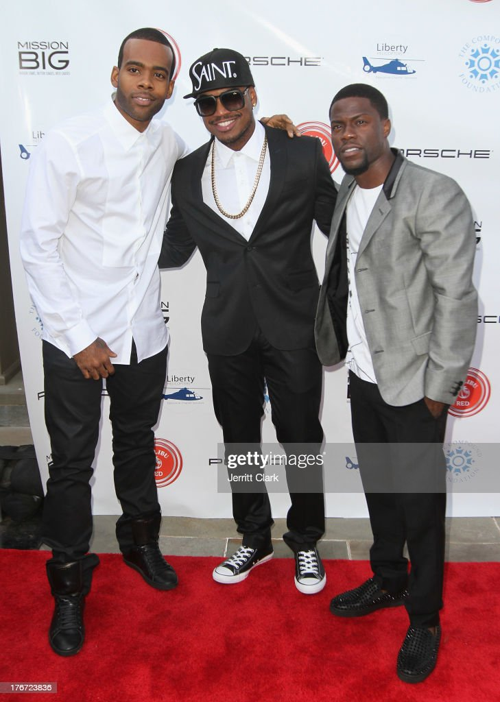 Mario, <a gi-track='captionPersonalityLinkClicked' href=/galleries/search?phrase=Ne-Yo&family=editorial&specificpeople=451543 ng-click='$event.stopPropagation()'>Ne-Yo</a> and Kevin Hart attend the 2nd annual Compund Foundation Fostering A Legacy Benefit on August 17, 2013 in East Hampton, New York.