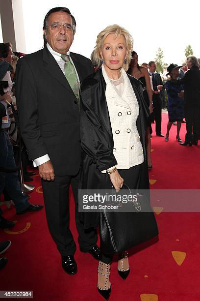 Mario Ohoven and his wife Ute Henriette Ohoven attend the CHIO 2014 media night on July 15 2014 in Aachen Germany
