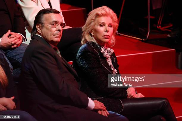 Mario Ohoven and UteHenriette Ohoven parents of candidate Chiara Ohoven are seen during the 1st show of the tenth season of the television...
