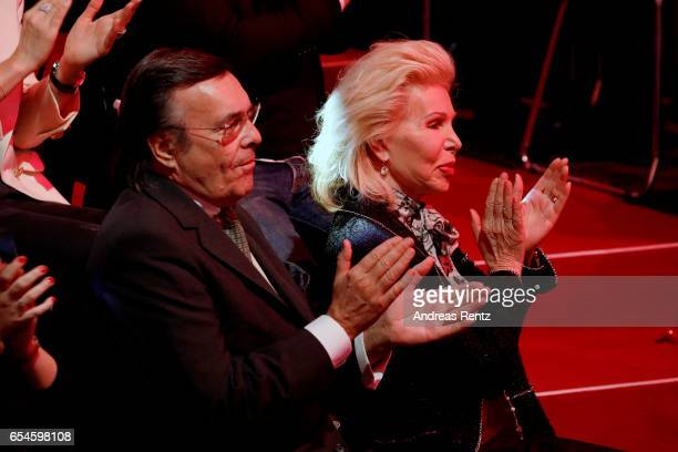 Mario Ohoven and UteHenriette Ohoven parents of candidate Chiara Ohoven applaude during the 1st show of the tenth season of the television...