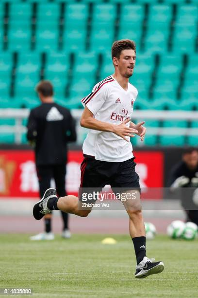 Mario Pasalic of AC Milan was training at University Town Sports Centre Stadium on July 15 2017 in Guangzhou China