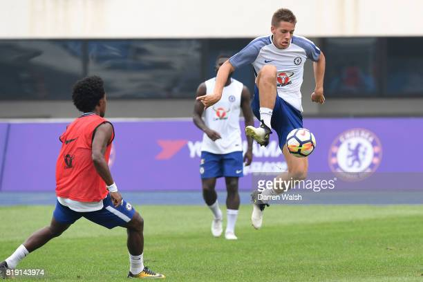 Mario Pasalic of Chelsea during a training session at the AOTI Stadium on July 20 2017 in Beijing China