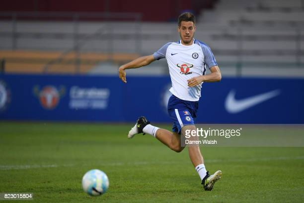 Mario Pasalic of Chelsea during a training session at the Singapore American School on July 28 2017 in Singapore
