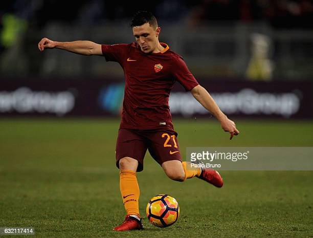 Mario Rui of AS Roma in action during the TIM Cup match between AS Roma and UC Sampdoria at Stadio Olimpico on January 19 2017 in Rome Italy