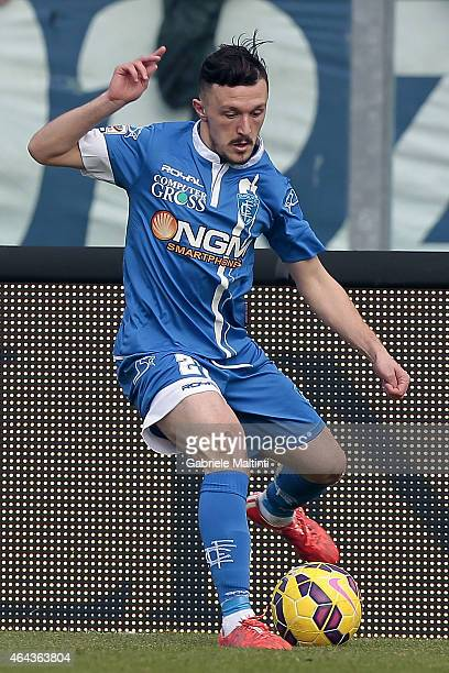 Mario Rui of Empoli FC in action during the Serie A match between Empoli FC and AC Chievo Verona at Stadio Carlo Castellani on February 22 2015 in...