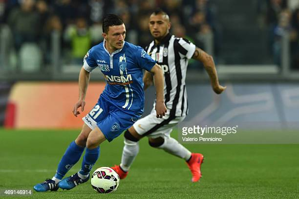 Mario Rui of Empoli FC in action during the Serie A match between Juventus FC and Empoli FC at Juventus Arena on April 4 2015 in Turin Italy