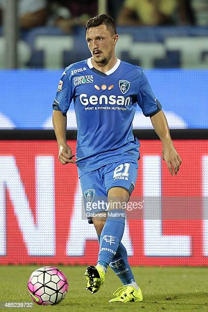 Mario Rui of Empoli FC in action during the Serie A match between Empoli FC and AC Chievo Verona at Stadio Carlo Castellani on August 23 2015 in...