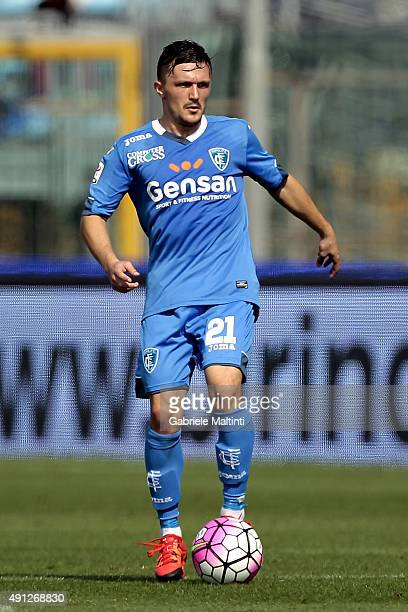 Mario Rui of Empoli FC in action during the Serie A match between Empoli FC and US Sassuolo Calcio at Stadio Carlo Castellani on October 4 2015 in...