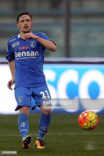 Mario Rui of Empoli FC in action during the Serie A match between Empoli FC and Frosinone Calcio at Stadio Carlo Castellani on February 13 2016 in...