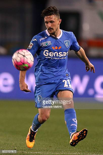 Mario Rui of Empoli FC in action during the Serie A match between Empoli FC and Hellas Verona FC at Stadio Carlo Castellani on April 20 2016 in...