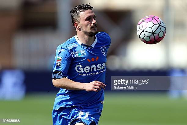 Mario Rui of Empoli FC in action during the Serie A match between Empoli FC and Bologna FC at Stadio Carlo Castellani on May 1 2016 in Empoli Italy