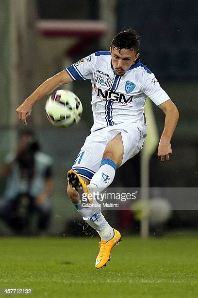 Mario Rui of Empoli FC in action during the Serie A match between Genoa CFC and Empoli FC at Stadio Luigi Ferraris on October 20 2014 in Genoa Italy