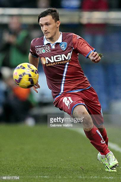 Mario Rui of Empoli FC in action during the Serire A match between UC Sampdoria and Empoli FC at Stadio Luigi Ferraris on January 11 2015 in Genoa...