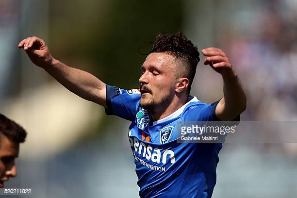 Mario Rui of Empoli FC reacts during the Serie A match between Empoli FC and ACF Fiorentina at Stadio Carlo Castellani on April 10 2016 in Empoli...