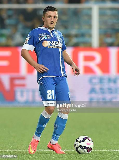 Mario Rui of Empoli in action during the Serie A match between AC Cesena and Empoli FC at Dino Manuzzi Stadium on September 20 2014 in Cesena Italy