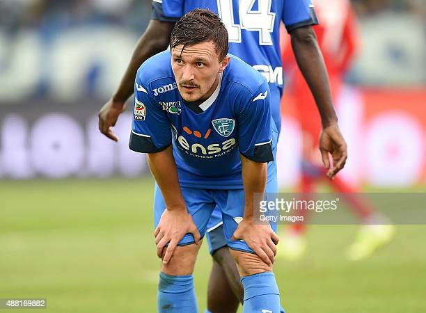 Mario Rui of Empoli in action during the Serie A match between Empoli FC SSC Napoli at Stadio Carlo Castellani on September 13 2015 in Empoli Italy