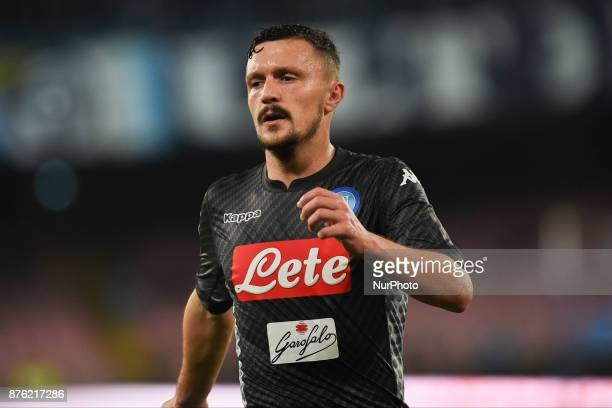 Mario Rui of SSC Napoli during the Serie A TIM match between SSC Napoli and AC Milan at Stadio San Paolo Naples Italy on 18 November 2017
