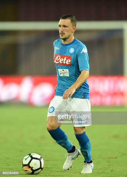 Mario Rui of SSC Napoli in action during the preseason friendly match between SSC Napoli and Espanyol at Stadio San Paolo on August 10 2017 in Naples...