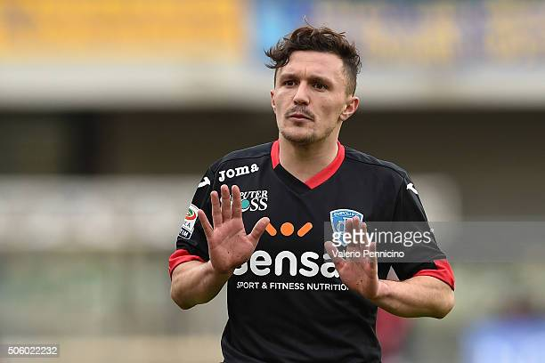 Mario Rui Silva Duarte of Empoli FC reacts during the Serie A match between AC Chievo Verona and Empoli FC at Stadio Marc'Antonio Bentegodi on...