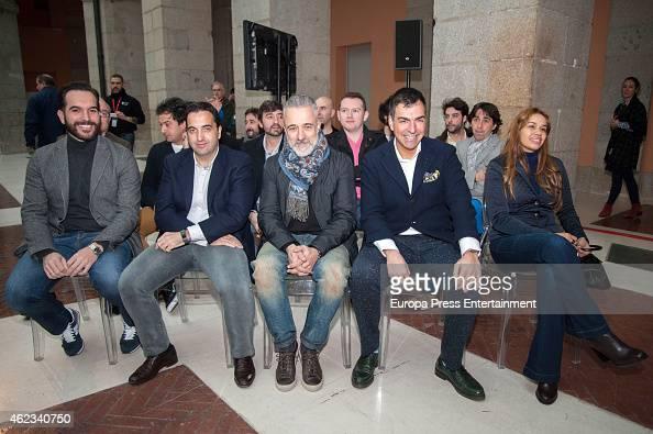 Mario Sandoval Oscar Velasco Sergi Arola Ramon Freixa and Maria Marte attend Madrid Michelin Starred Chefs at Real Casa de Correos on January 26 2015...
