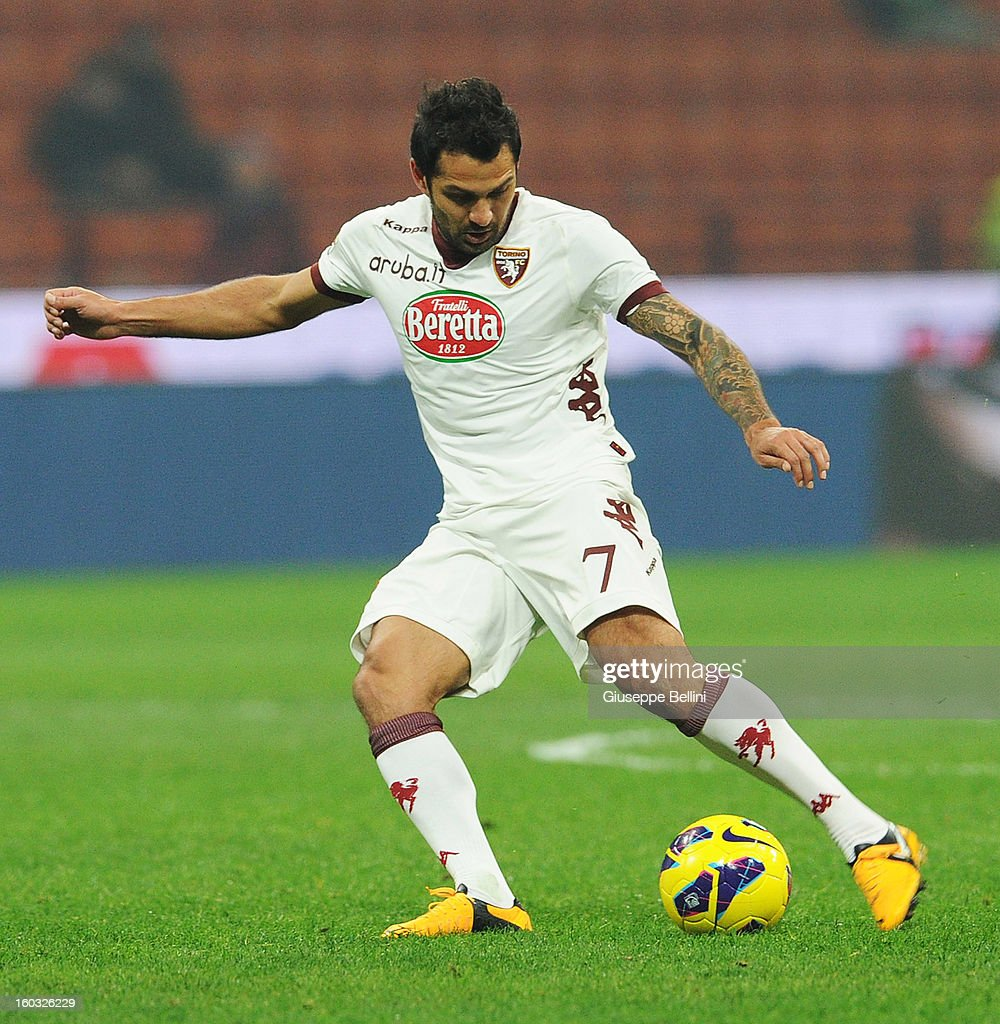 Mario Santana of Torino in action during the Serie A match between FC Internazionale Milano and Torino FC at San Siro Stadium on January 27, 2013 in Milan, Italy.