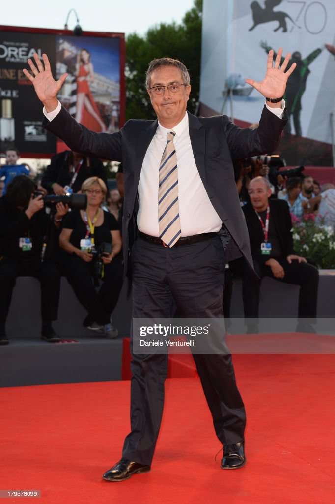 <a gi-track='captionPersonalityLinkClicked' href=/galleries/search?phrase=Mario+Sesti&family=editorial&specificpeople=3868420 ng-click='$event.stopPropagation()'>Mario Sesti</a> attends 'La Jalousie' Premiere during the 70th Venice International Film Festival at the Sala Grande on September 5, 2013 in Venice, Italy.