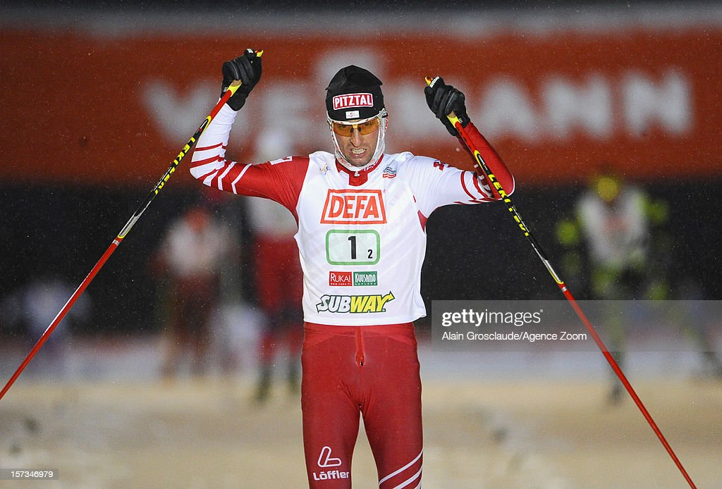 <a gi-track='captionPersonalityLinkClicked' href=/galleries/search?phrase=Mario+Stecher&family=editorial&specificpeople=724611 ng-click='$event.stopPropagation()'>Mario Stecher</a> competes during the FIS Nordic Combined World Cup Team Sprint on December 02, 2012 in Kuusamo, Finland.