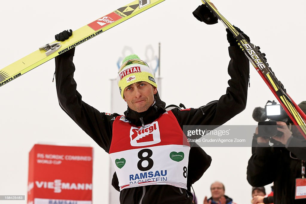 <a gi-track='captionPersonalityLinkClicked' href=/galleries/search?phrase=Mario+Stecher&family=editorial&specificpeople=724611 ng-click='$event.stopPropagation()'>Mario Stecher</a> of Austria takes 3rd place during the FIS Nordic Combined World Cup HS98/10km December 16, 2012 in Ramsau, Austria.